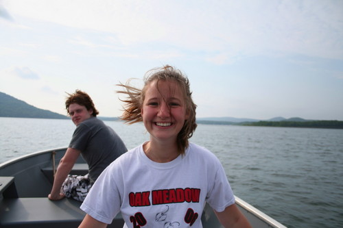 Jessica & Zeke on Boat